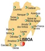 Lisbon District Map, Portugal