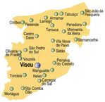 Viseu District Map, Portugal