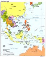 Southeast Asia Political Map 1995