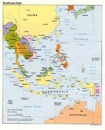 Southeast Asia Political Map 1992