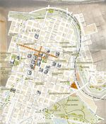 Córdoba City Downtown Map, Argentina
