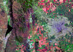 Satellite Image, Photo of Guadalajara, Jalisco, Mexico