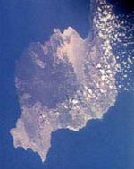 Satellite Image, Photo, Lanzarote Island, Canarias, Spain
