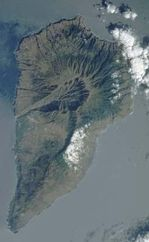 Satellite Image, Photo, La Palma Island, Canarias, Spain