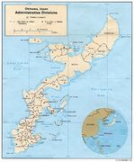 Okinawa Administrative Divisions Map, Japan
