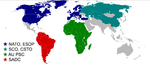 Organizaciones regionales y alianzas militares en el Mundo 2008