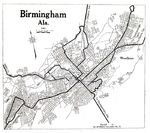 Birmingham City Map, Alabama, United States 1919
