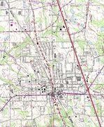 Kirksville Topographic City Map, Missouri, United States