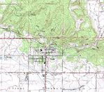 Nucla Topographic City Map, Colorado, United States