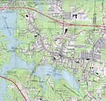 Acworth Topographic City Map, Georgia, United States