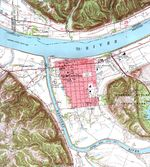 Carrollton Topographic City Map, Kentucky, United States