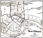 New Orleans City Map, Louisiana, United States 1917
