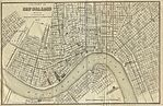 New Orleans City Map, Louisiana, United States 1873