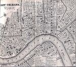 New Orleans City Map, Louisiana, United States 1869