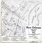 Mapa de la Ciudad de Nueva Orleans, Luisiana, Estados Unidos 1920