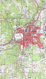 Rolla Topographic City Map, Missouri, United States