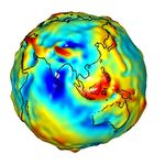 Gravity anomalies of Asia and Australia