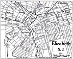 Elizabeth City Map, New Jersey, United States 1920