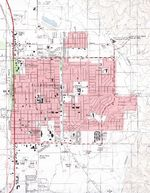 Alamogordo Topographic City Map, New Mexico, United States