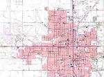 Roswell Topographic City Map, New Mexico, United States