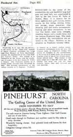 Pinehurst Detail City Map, North Carolina, United States 1919