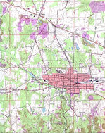 East Palestine Topographic City Map, Ohio, United States