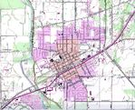 Canby Topographic City Map, Oregon, United States