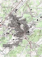 Athens Topographic City Map, Tennessee, United States