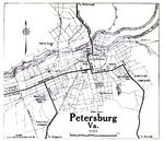 Mapa de la Ciudad de Petersburg, Virginia, Estados Unidos 1919