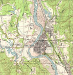 Castle Rock Topographic City Map, Washington, United States