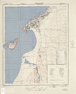 Mogador City Map, Morocco 1942