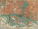 Hamburg-Altona Map, Germany 1910