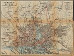 Hamburg (Railway and Tramway) Map, Germany 1910