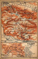 Eisleben Map, Germany 1910