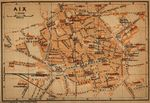 Fredericksburg City Map, Virginia, United States 1920