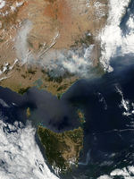 Fires and smoke in Southeast Australia and Tasmania