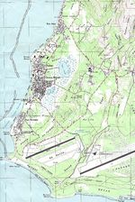 Saipan, Chalan Kanoa Area Topographic Map, Northern Mariana Islands