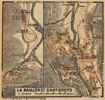 Environs of Cauterets Map, France 1914