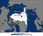 Record sea ice minimum in the Arctic 2007