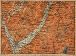 Remoter Environs of Grenoble Map, France 1914