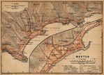 Mapa de las Cercanías de Menton, Francia 1914
