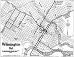 Wilmington City Map, Delaware, United States 1920