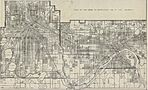 Mapa de Minneapolis, Minnesota, Estados Unidos 1906