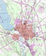 Millville Topographic City Map, New Jersey, United States
