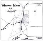 Winston-Salem Map, North Carolina, United States 1919