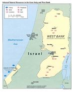 Gaza Strip and the West Bank Selected Natural Resources Map