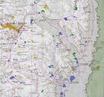 Map of West Bank Nablus and East