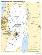 Political Map of Israeli Settlements in the West Bank