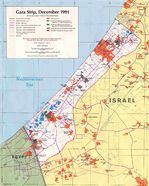 Gaza Strip Political Map