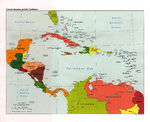 Central America and the Caribbean Political Map 1997